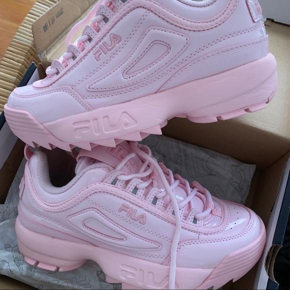 Fila Shoes   Baby Pink Patent Fila